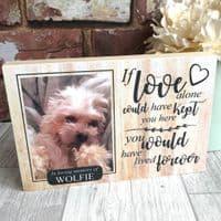 Wooden Pet Photo Memorial Block